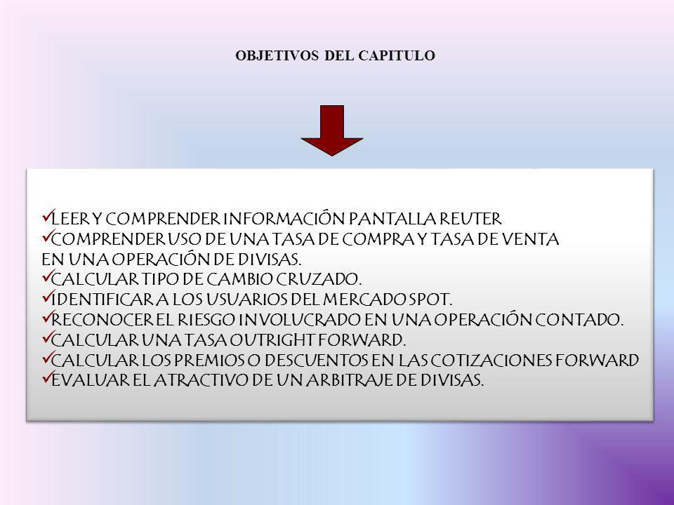 LEER Y COMPRENDER INFORMACIÓN PANTALLA REUTER