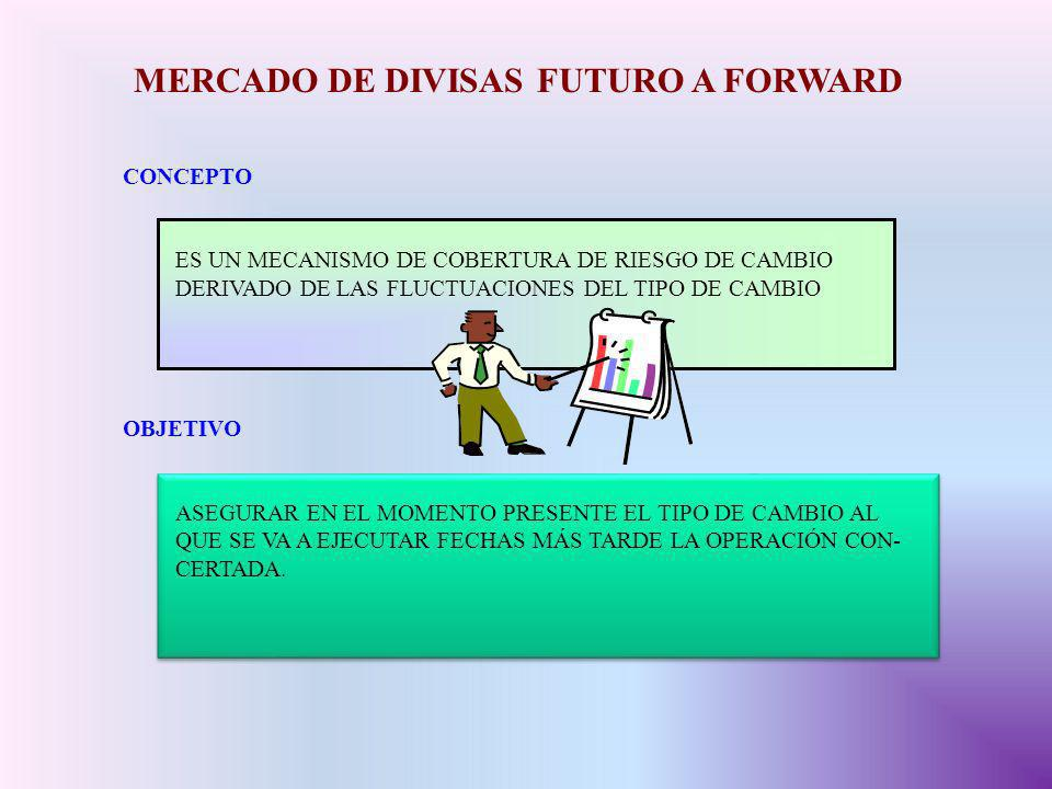 MERCADO DE DIVISAS FUTURO A FORWARD