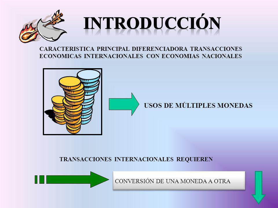 introducción USOS DE MÚLTIPLES MONEDAS