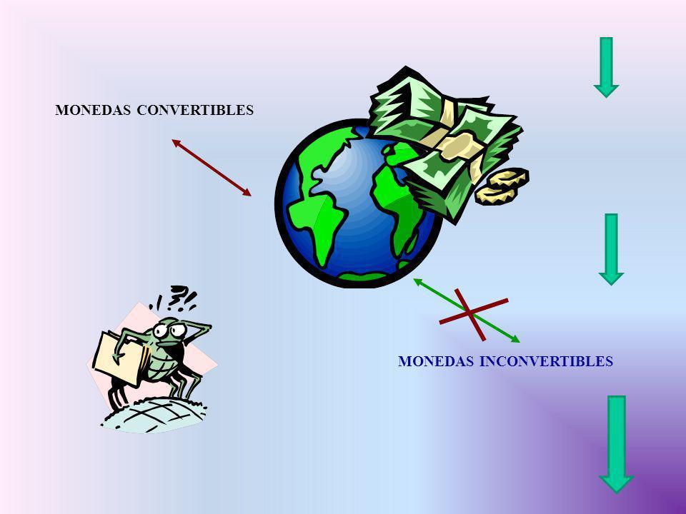 MONEDAS CONVERTIBLES MONEDAS INCONVERTIBLES