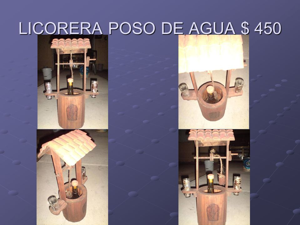 LICORERA POSO DE AGUA $ 450