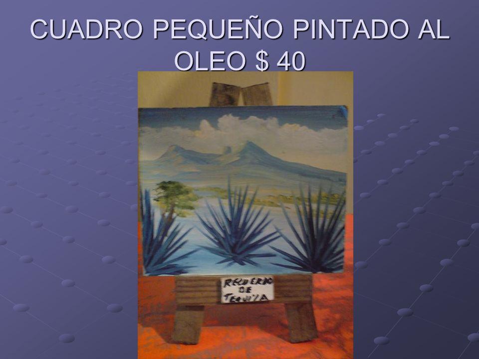 CUADRO PEQUEÑO PINTADO AL OLEO $ 40