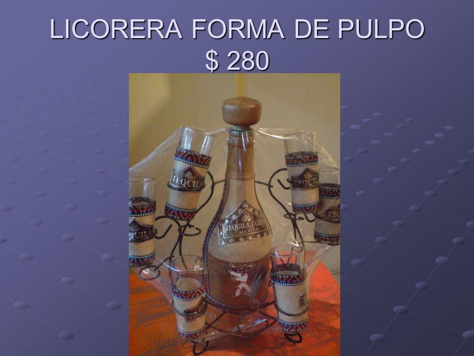 LICORERA FORMA DE PULPO $ 280