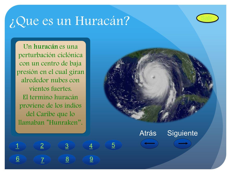 ¿Que es un Huracán Atrás Siguiente