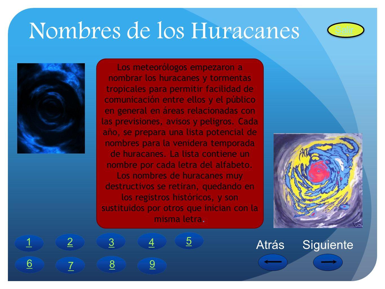 Nombres de los Huracanes