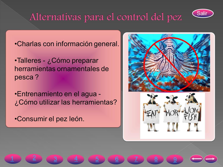 Alternativas para el control del pez