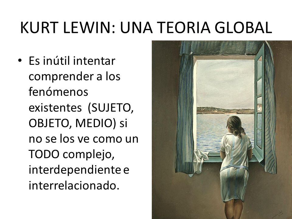 KURT LEWIN: UNA TEORIA GLOBAL