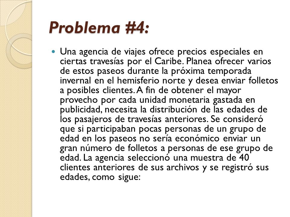 Problema #4: