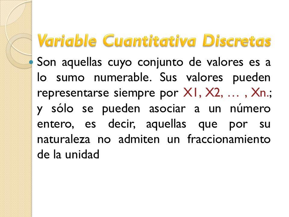 Variable Cuantitativa Discretas