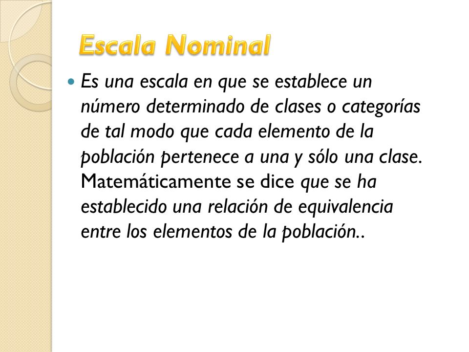 Escala Nominal