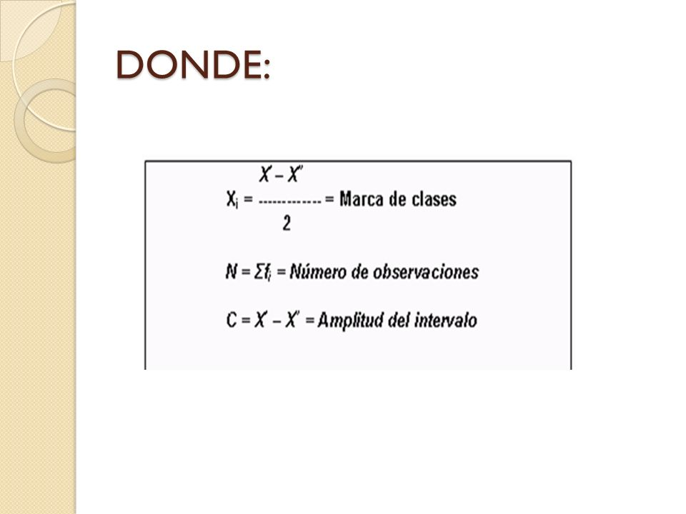 DONDE: