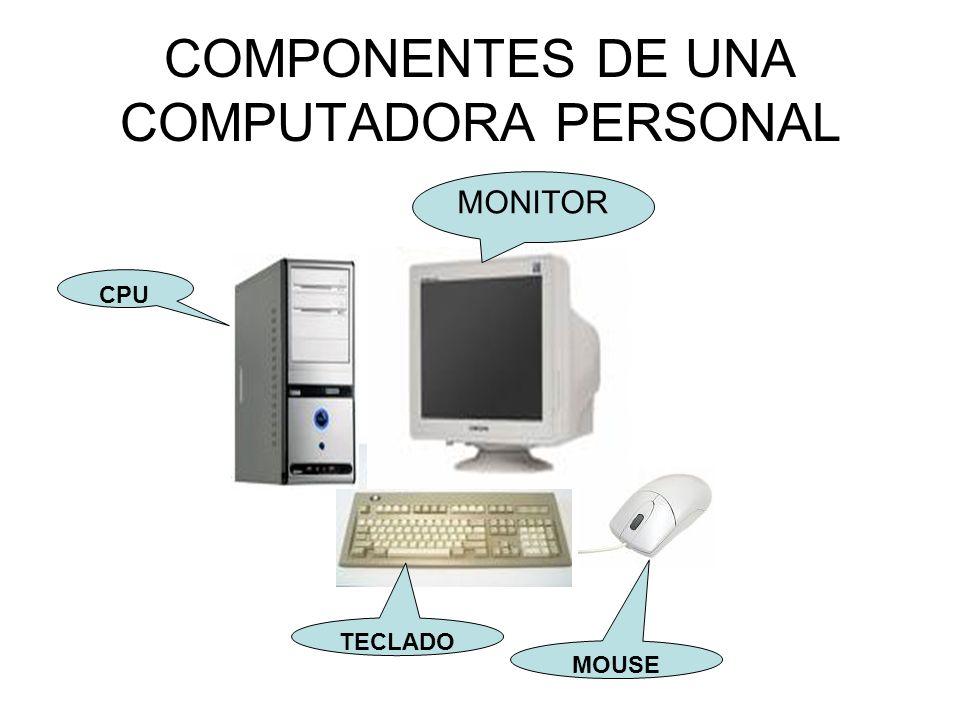 COMPONENTES DE UNA COMPUTADORA PERSONAL
