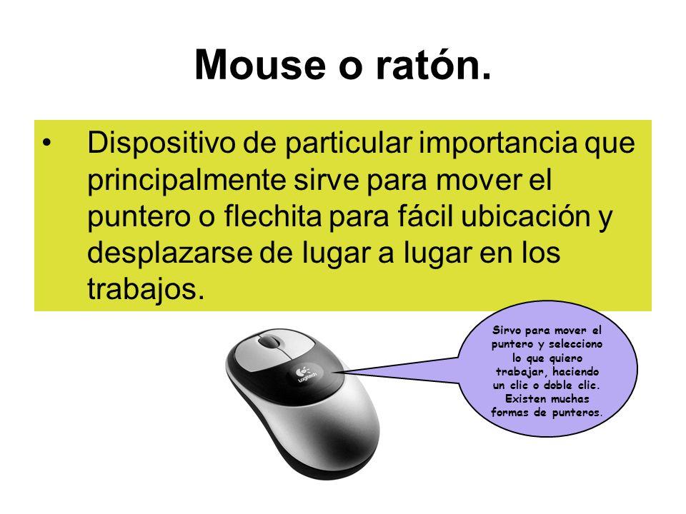 Mouse o ratón.