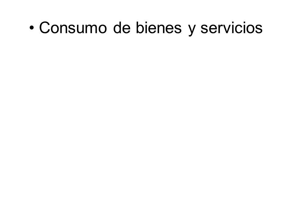 • Consumo de bienes y servicios