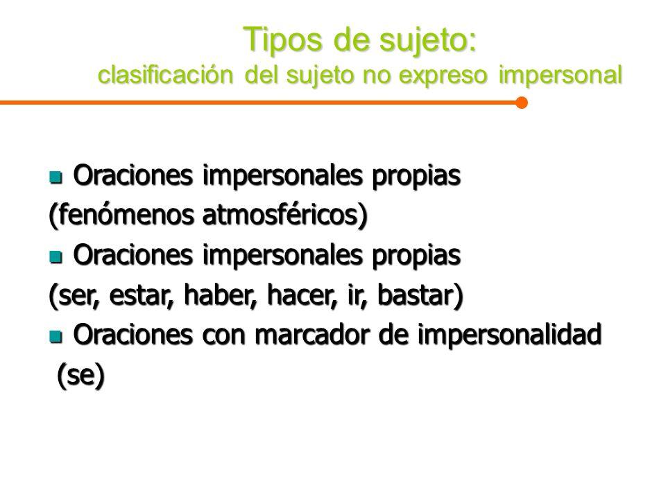 Tipos de sujeto: clasificación del sujeto no expreso impersonal