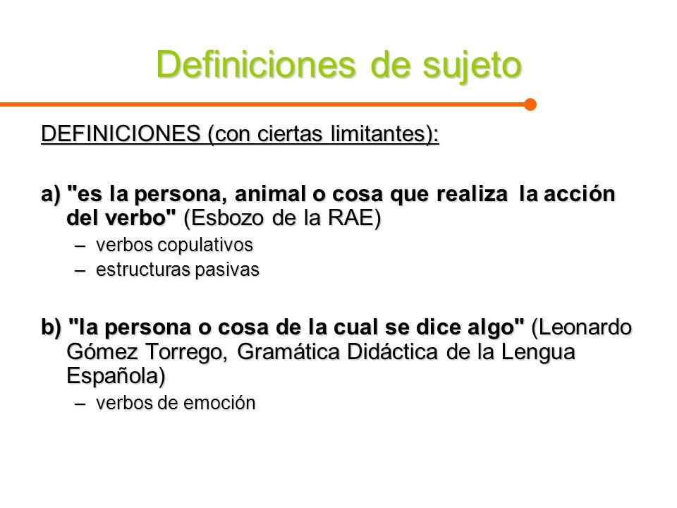 Definiciones de sujeto