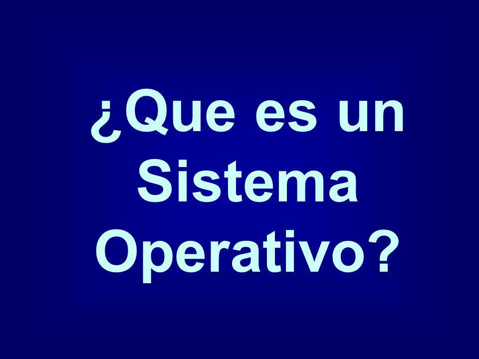 ¿Que es un Sistema Operativo