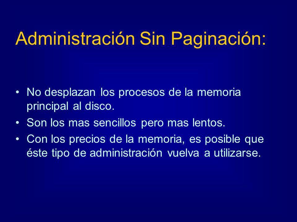 Administración Sin Paginación: