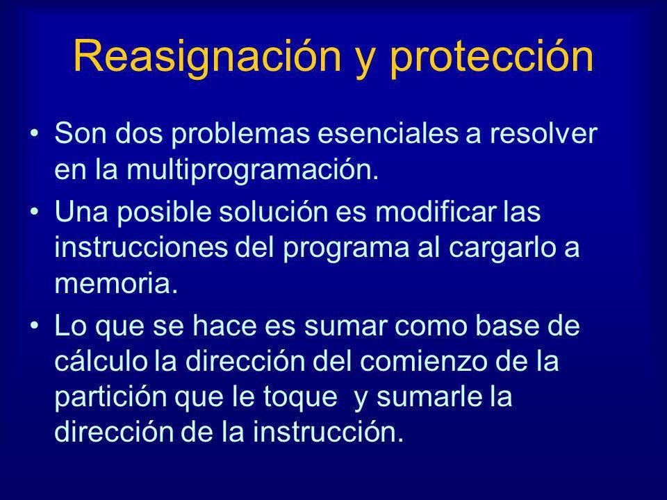 Reasignación y protección