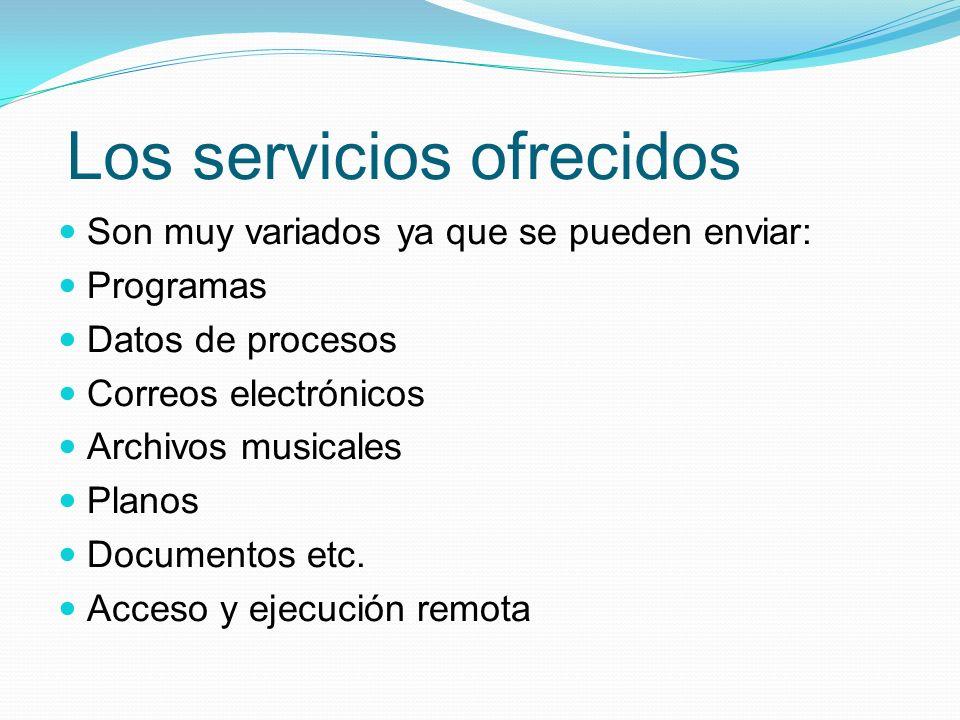 Los servicios ofrecidos