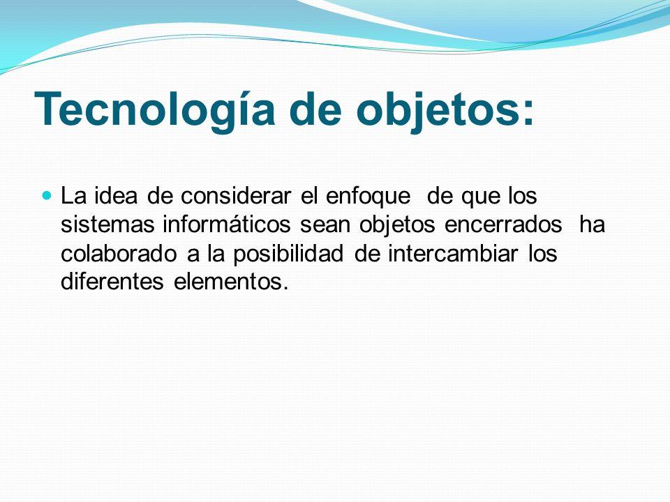 Tecnología de objetos: