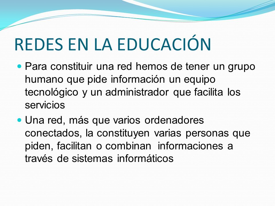 REDES EN LA EDUCACIÓN