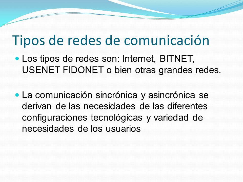Tipos de redes de comunicación