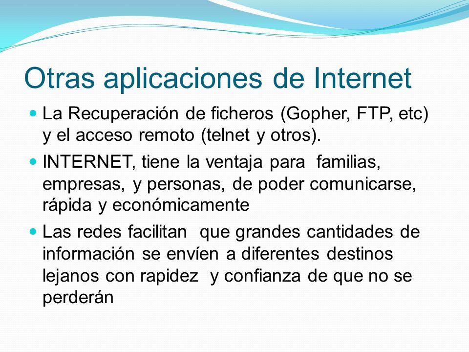 Otras aplicaciones de Internet