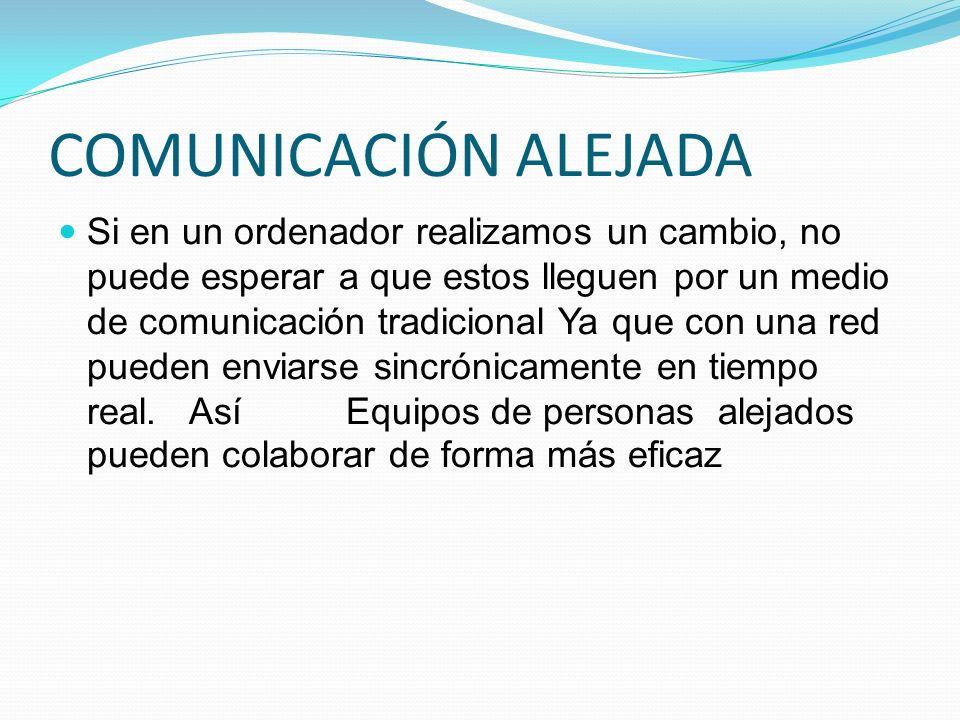 COMUNICACIÓN ALEJADA