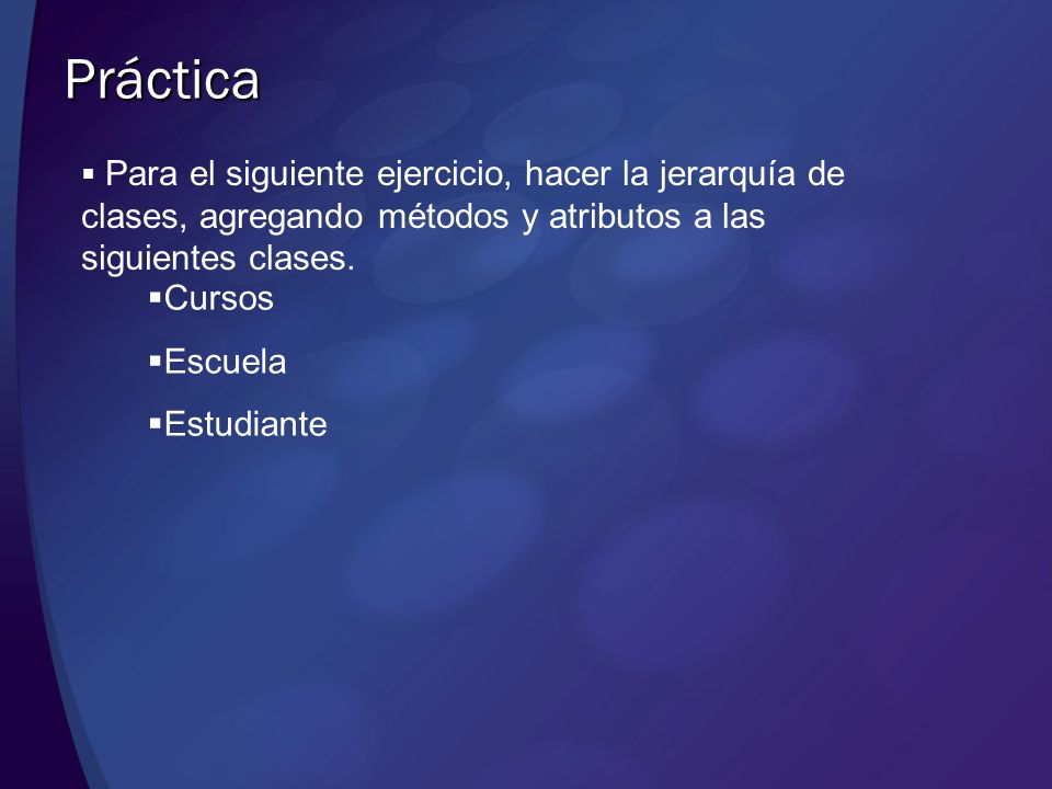 Práctica Cursos Escuela Estudiante