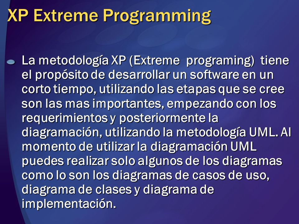 XP Extreme Programming