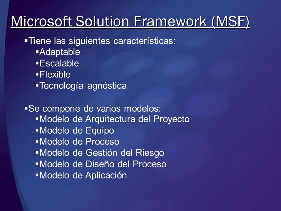 Microsoft Solution Framework (MSF)