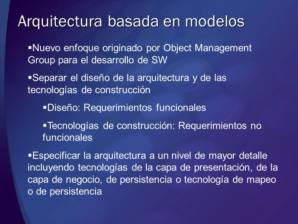 Arquitectura basada en modelos