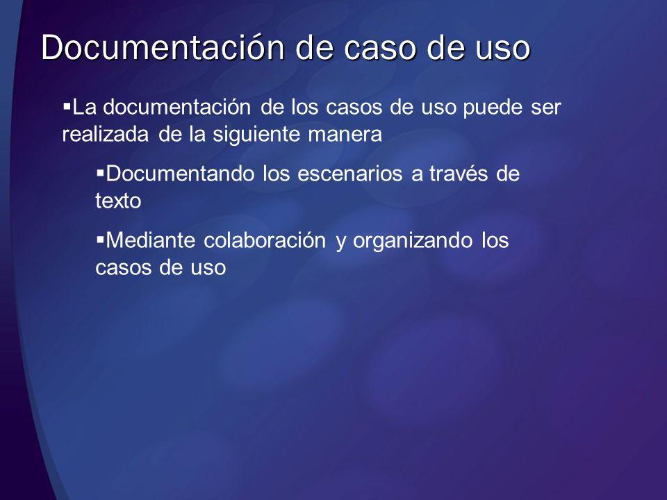 Documentación de caso de uso