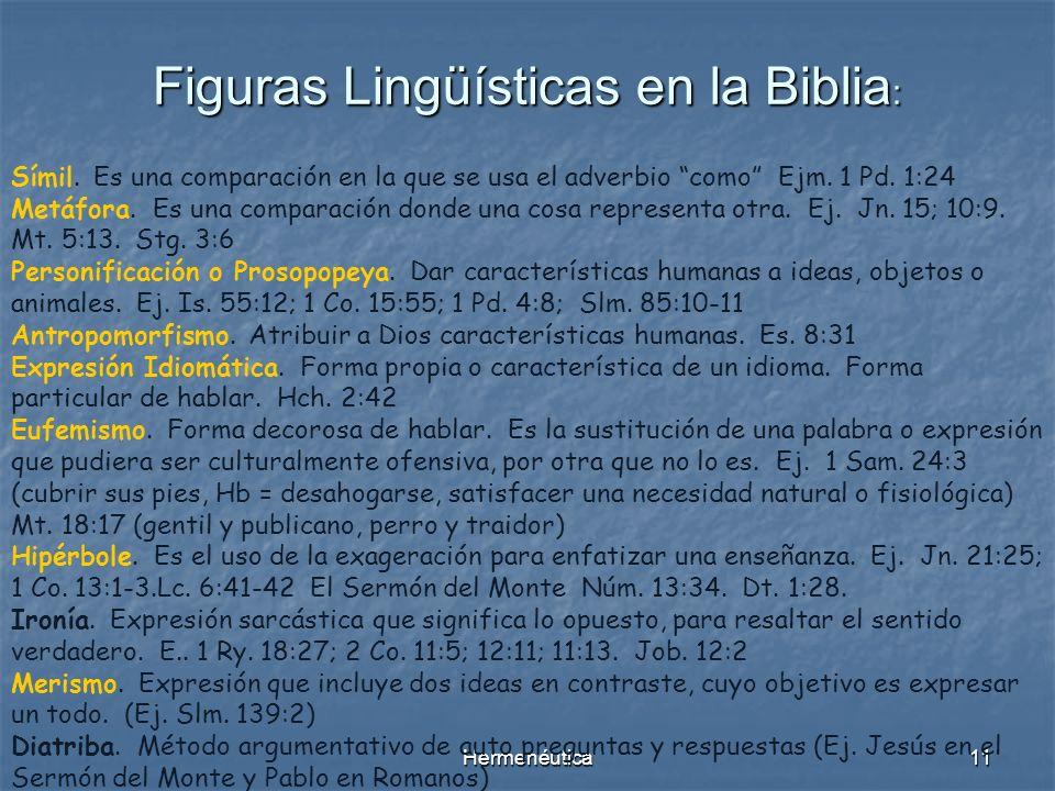 Figuras Lingüísticas en la Biblia: