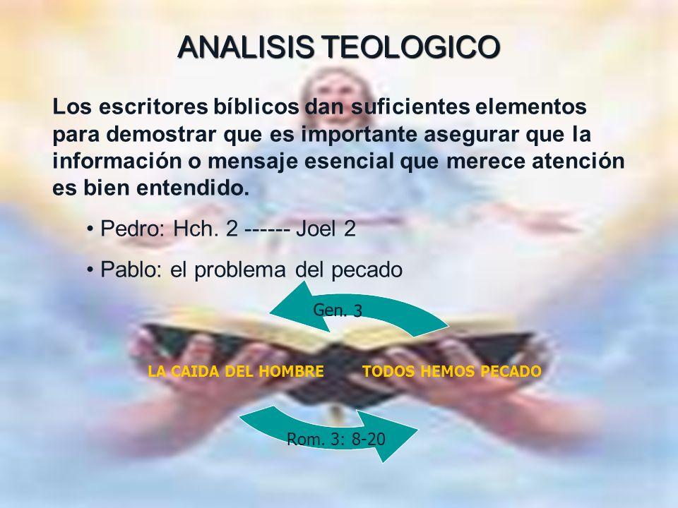 ANALISIS TEOLOGICO ANALISIS TEOLOGICO