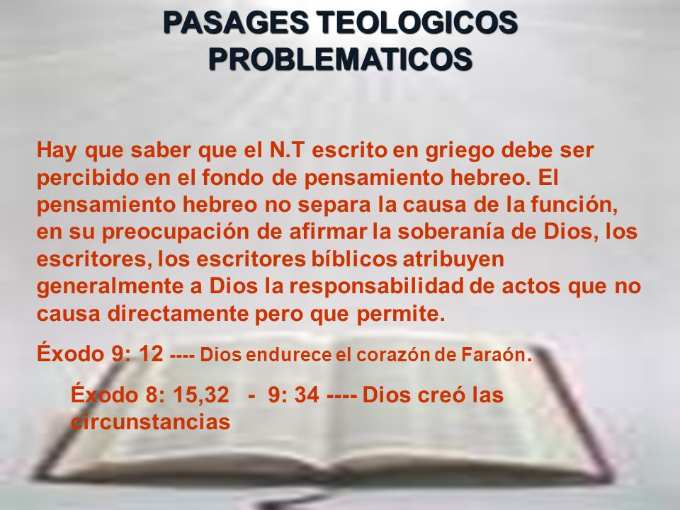 PASAGES TEOLOGICOS PROBLEMATICOS