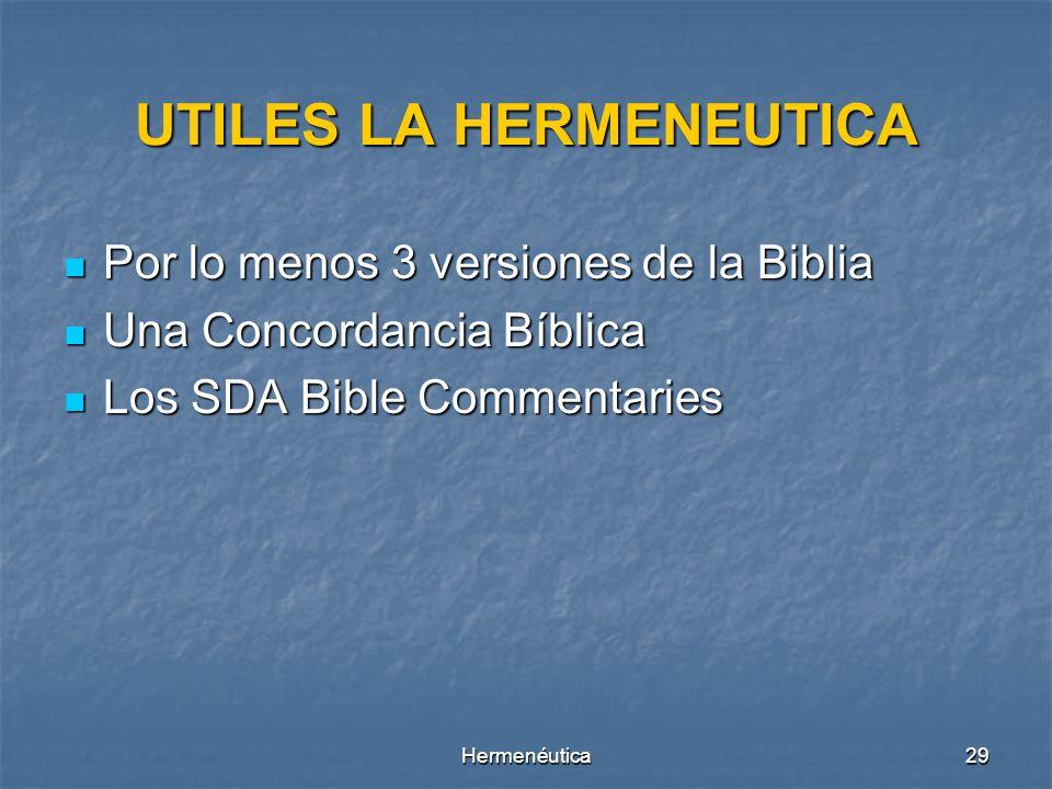 UTILES LA HERMENEUTICA