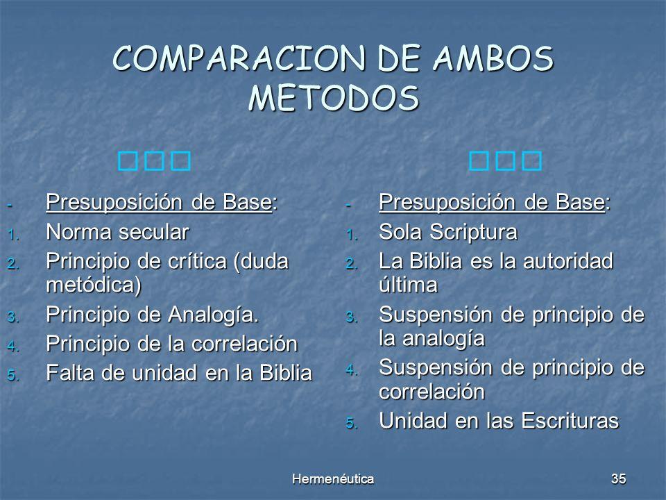 COMPARACION DE AMBOS METODOS