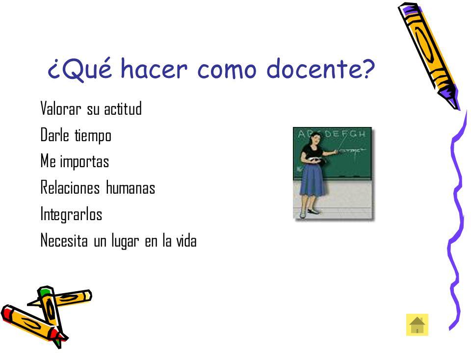 ¿Qué hacer como docente