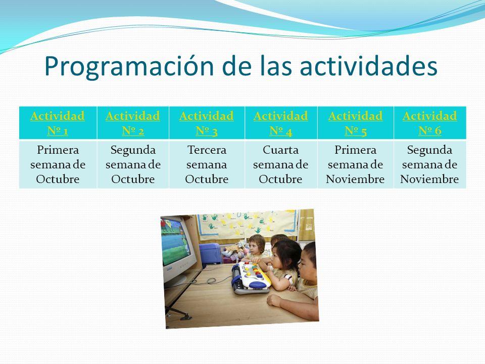 Programación de las actividades