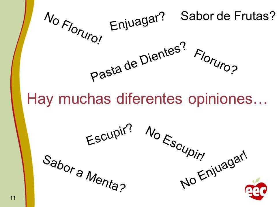 Hay muchas diferentes opiniones…