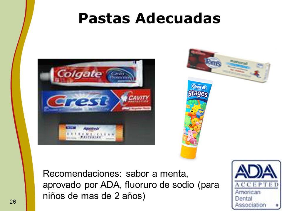 Pastas Adecuadas Toothpaste.