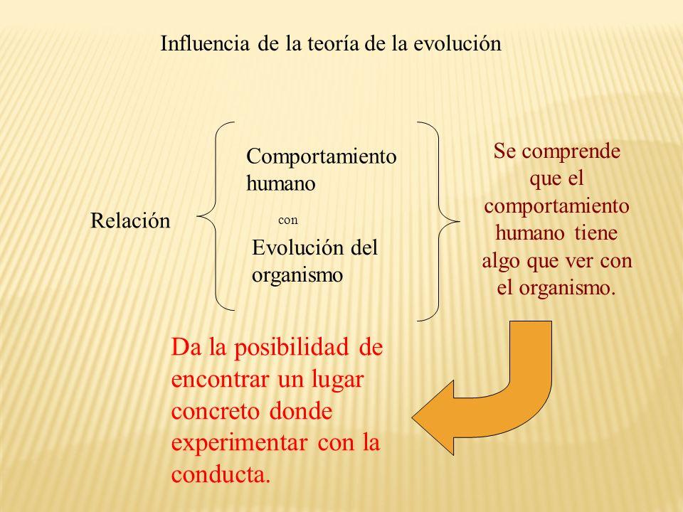 Influencia de la teoría de la evolución