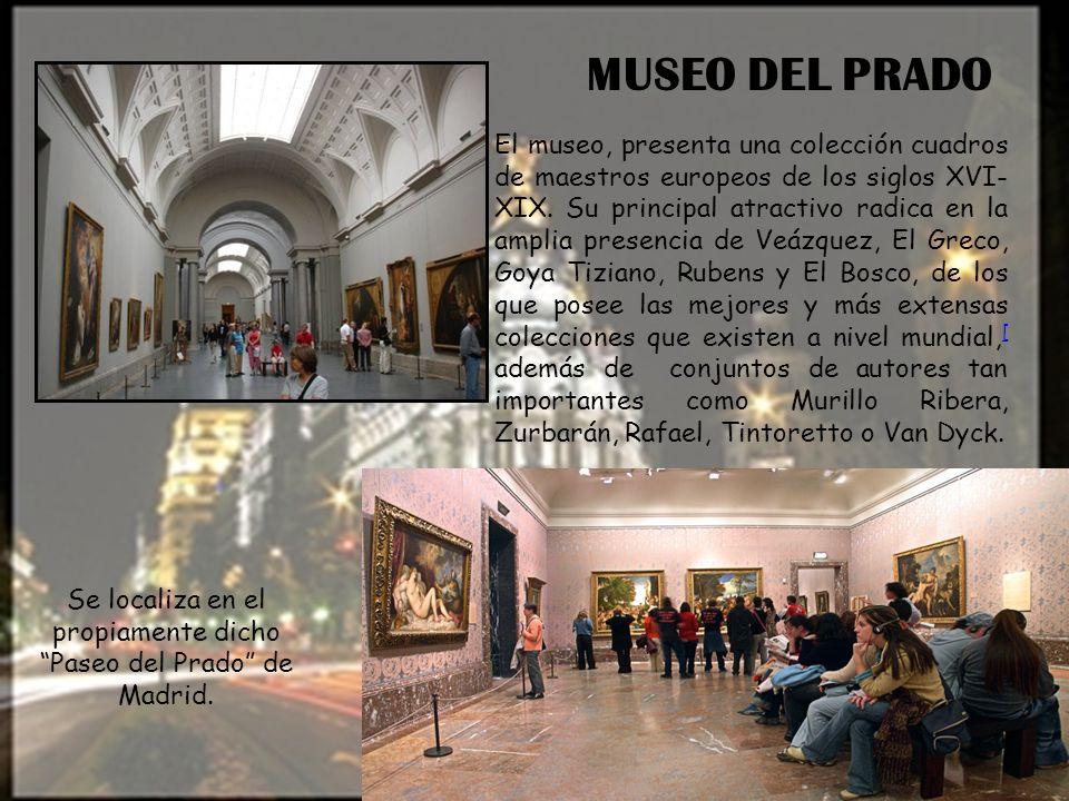 Se localiza en el propiamente dicho Paseo del Prado de Madrid.