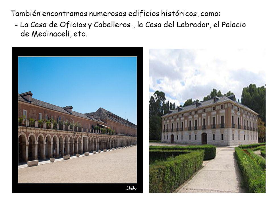 También encontramos numerosos edificios históricos, como: