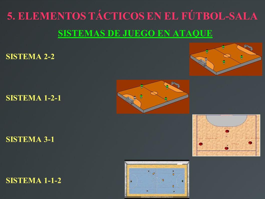 5. ELEMENTOS TÁCTICOS EN EL FÚTBOL-SALA