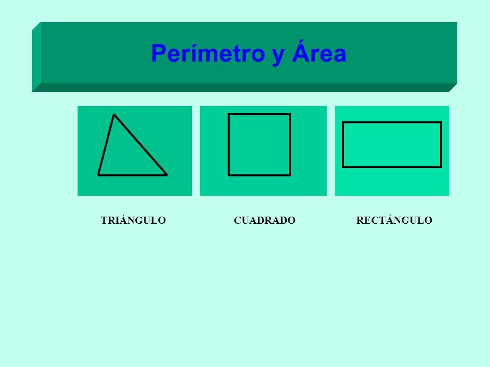 Perímetro y Área TRIÁNGULO CUADRADO RECTÁNGULO