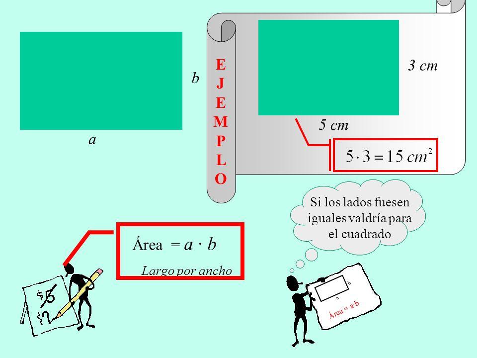 Si los lados fuesen iguales valdría para el cuadrado