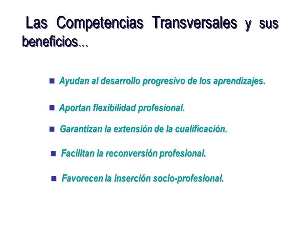 Las Competencias Transversales y sus beneficios...